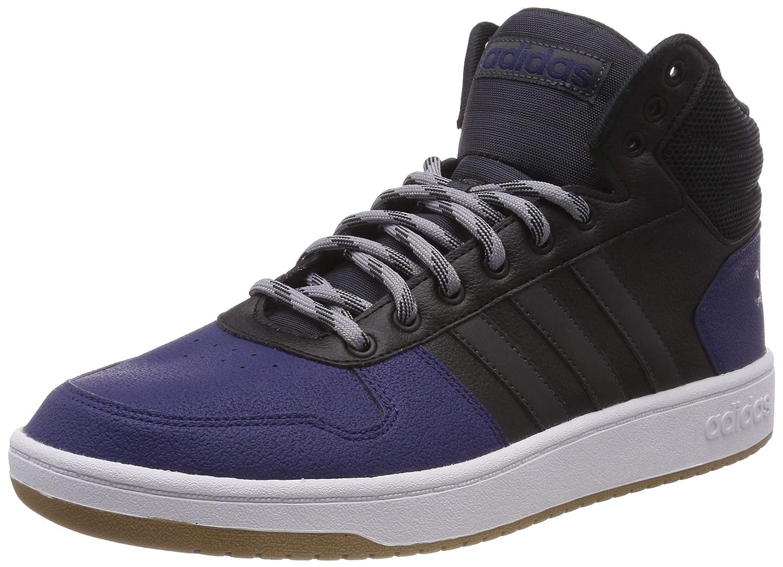 Noir (Core noir Carbon S18 Light Granite) adidas Hoops 2.0 Mid, Chaussures de Fitness Homme 46 EU