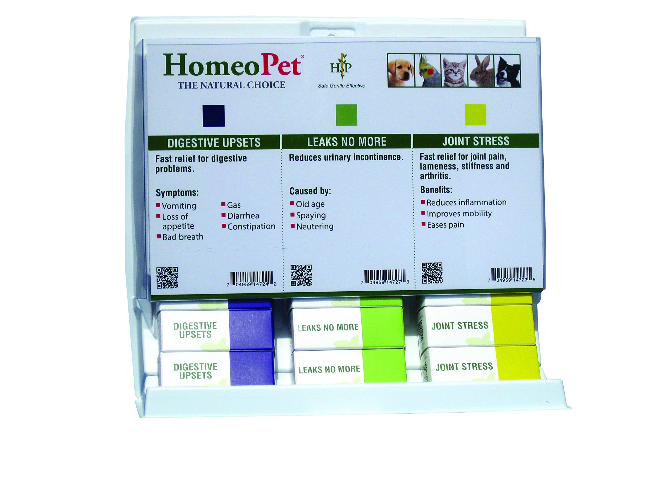Senior Center 15-Unit Display | Includes 5 Each of | Joint Stress | Digestive Upsets | Leaks No More