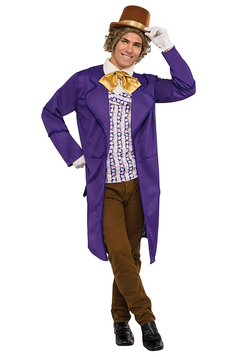 Elegant Rubieu0027s Menu0027s Willy Wonka And The Chocolate Factory Deluxe Willy Wonka  Costume