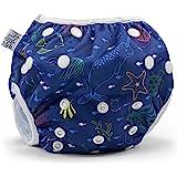 Nageuret 可重复使用的游泳尿布,可水洗,可调节 0-3 岁 海洋朋友 6-30lbs