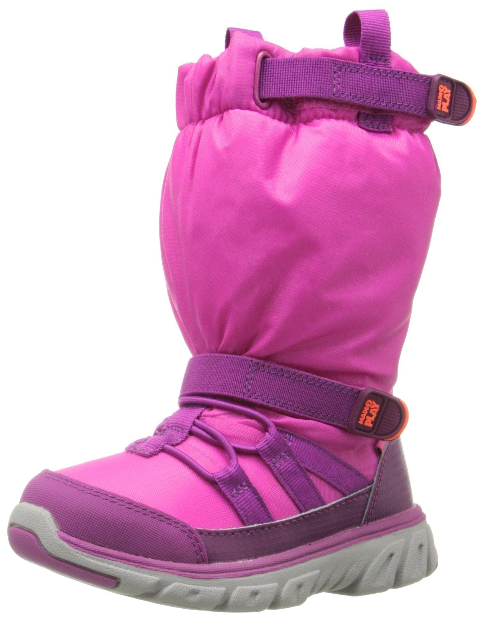 Stride Rite Made 2 Play Sneaker Winter Boot (Toddler/Little Kid), Pink, 9 M US Toddler