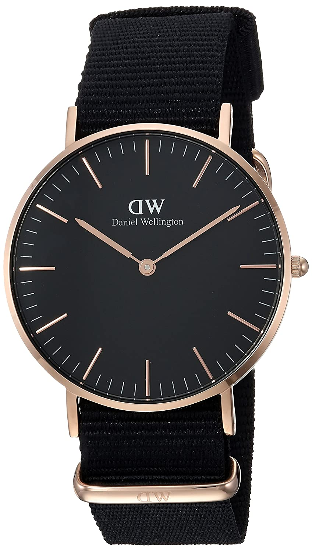 Daniel Wellington Reloj analogico para Unisex de Cuarzo con Correa en Nailon DW00100150