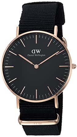 f6bb2ac72f163 Image Unavailable. Image not available for. Color  Daniel Wellington  Classic Black Cornwall 36mm
