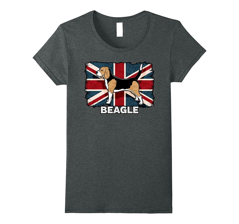 Beagle Dog Owner British Union Jack Flag Shirt