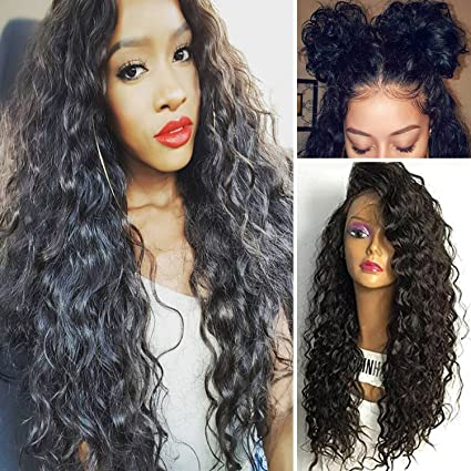 Andria Hair Silk Top Glueless Full Lace Wigs for Black Women Brazilian Virgin Hair Deep Curly