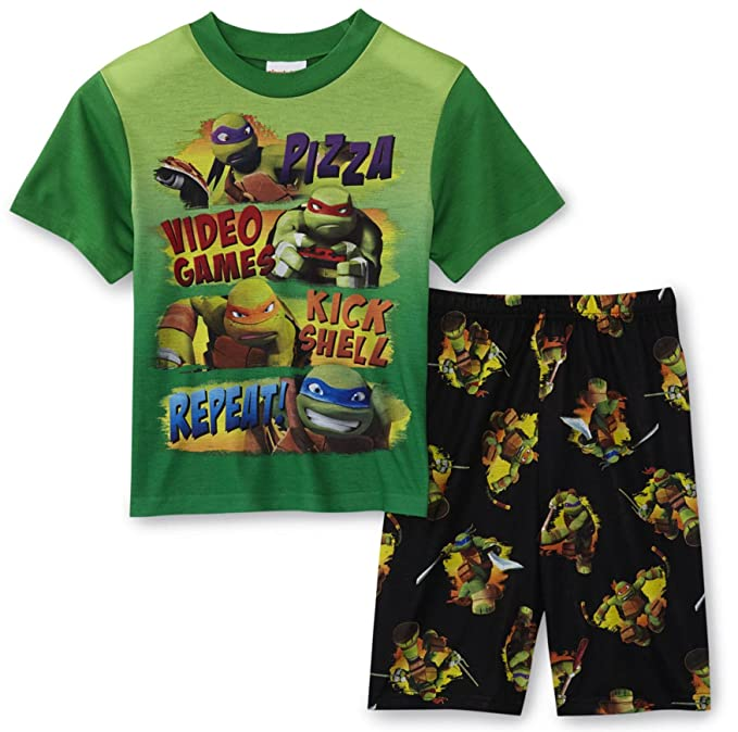 Teenage Mutant Ninja Turtles Boys 2 Piece Pajamas Set, Kids Size 8