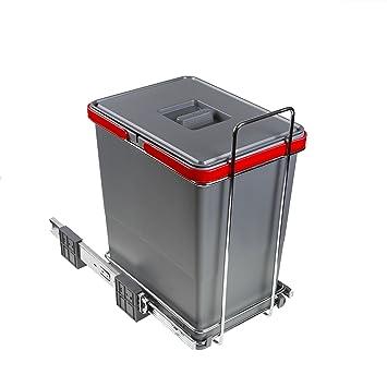 ELLETIPI Ecofil PF01 34 C1 Mülleimer Mülltrennung, Ausziehbar für ...