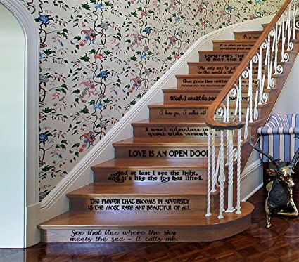Amazon Gmd Decals Princess Movie Quotes Set Vinyl Stairs Or