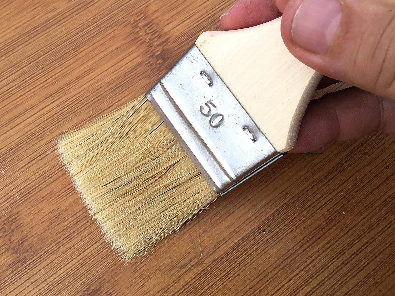 Peinture huile acrylique vernis /émaux colle lasure teinture appr/êt r/ésine Soie blanche Kibros 320/_50 Largeur 50 mm Multi support Pinceau queue de morue Unit/é jetable