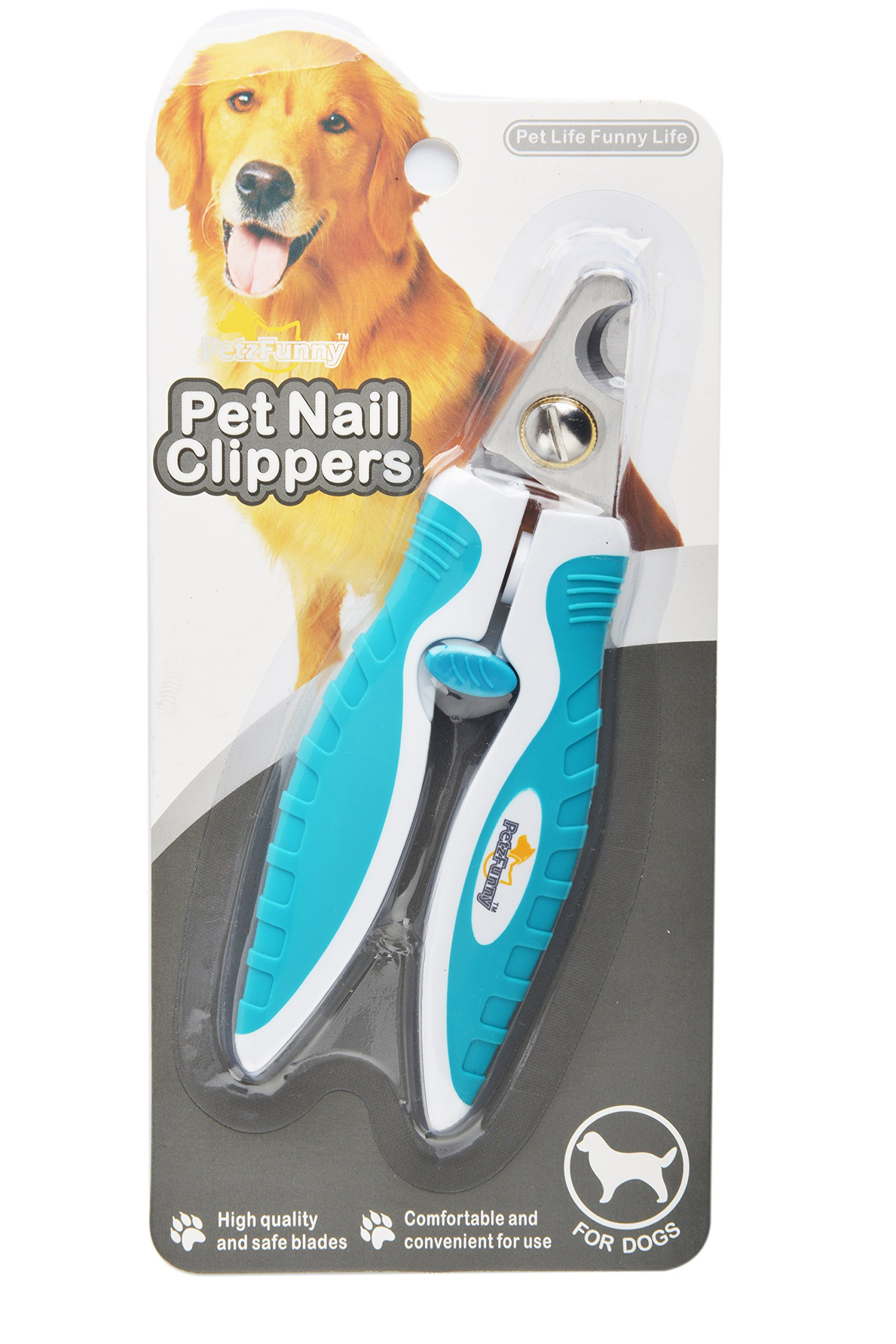 Dog Nail Clippers Small Pet Trimmer Safety Guard Angled Blade for Easy Cutting PUPTECK
