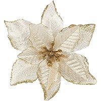 Gosear 10 pz Natale Glitter Artificiale Fiori Ornamenti Decorazioni Per Natale Albero Corone Partito Matrimonio