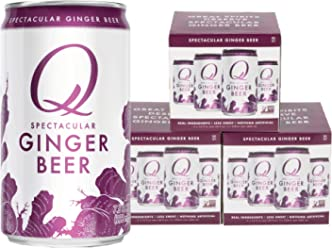 Q Drinks, Q Ginger Beer, Spectacular Ginger Beer, Premium Mixer, 7.5 Ounce Slim Can (Pack of 12)