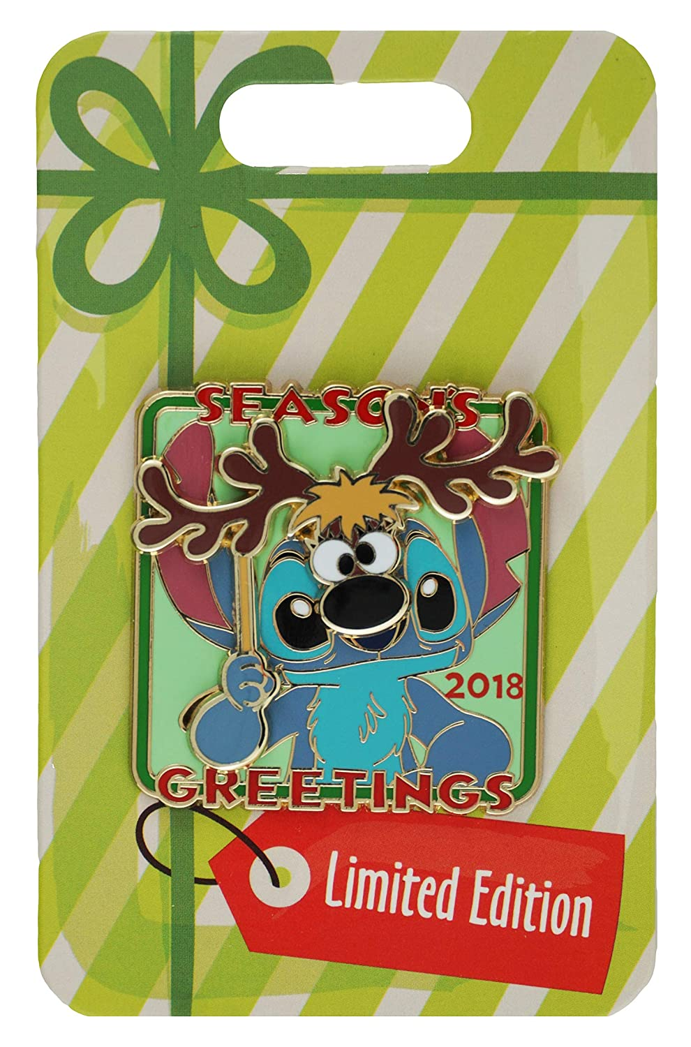 Disney Pin - 2018 Season's Greetings Stitch