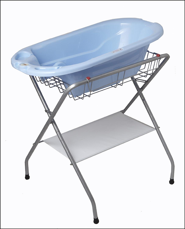 Amazon.com : Primo Folding Bath Stand, Silver Gray : Baby Bathing ...