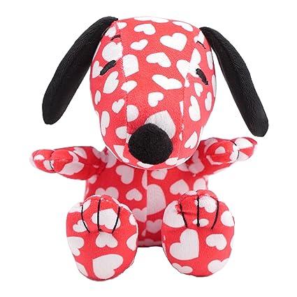 Amazon.com: Hallmark Plush Snoopy Stuffed Animal, Overall Heart ...