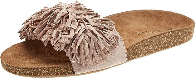Sandalias con Punta Abierta de Corcho para Mujer