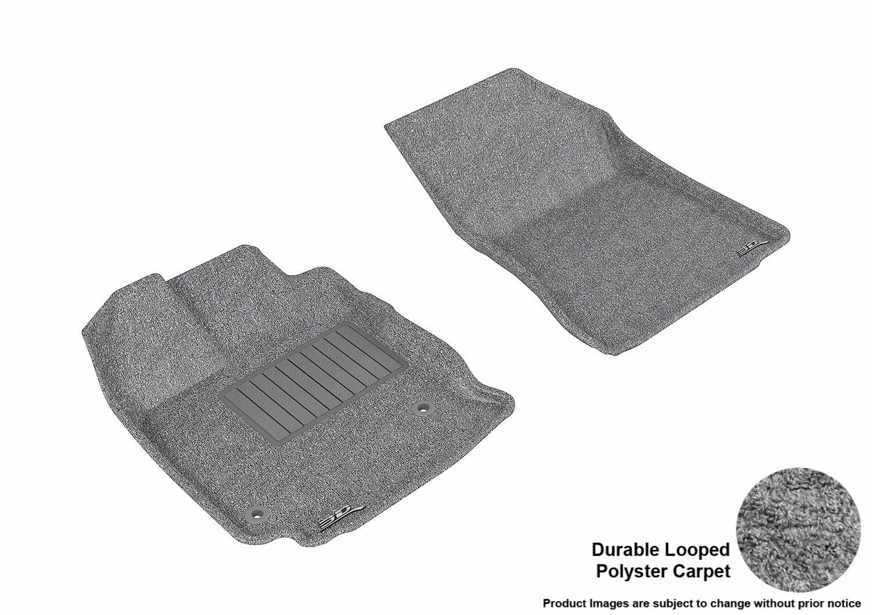 Tan 3D MAXpider Complete Set Custom Fit Floor Mat for Select Toyota Venza Models Classic Carpet