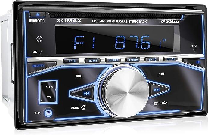 Xomax Xm 2cdb622 Autoradio Mit Cd Player Bluetooth Elektronik