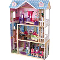 KidKraft My Dreamy Dollhouse with Furniture, Blue, 12""""""