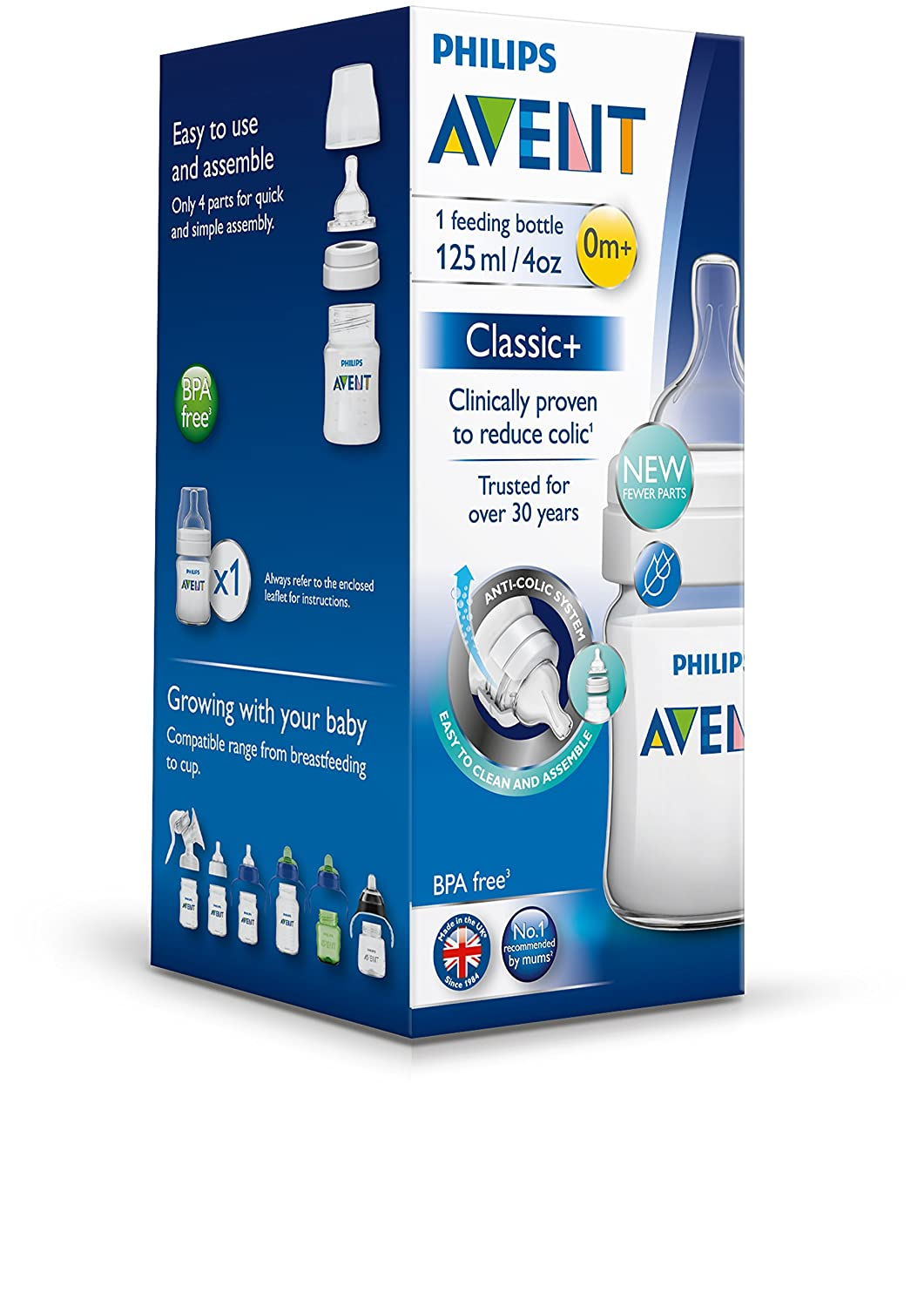 Philips Avent Classic - Biberón SCF560/17 (125 ml/4 oz) x 1 ...
