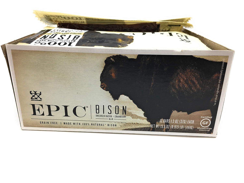 EPIC PROVISIONS Bacon Cranberry Bison Bar 12 Count, 1.3 OZ