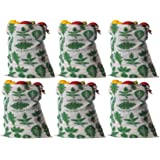 Earthy Fab Eco Friendly Cotton Fridge Storage Bag for Fruits and Vegetables Multipurpose, Reusable. Set of 6