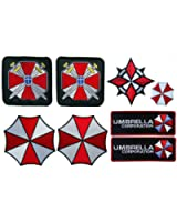 Resident Evil Umbrella Corporation Security Costume [Set of 8] Patches and Die cast pin