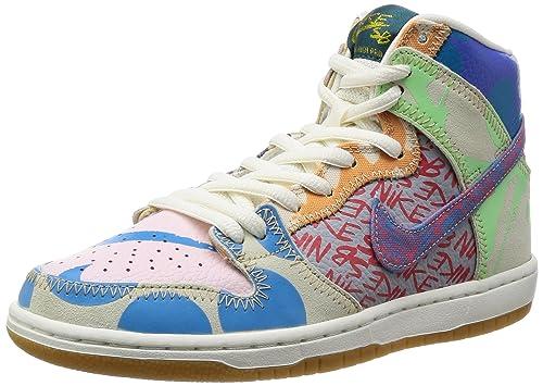 new arrival 636f0 be263 Nike, Uomo, SB Zoom Dunk High Premium, Pelle, Sneakers Alte, Bianco:  Amazon.it: Scarpe e borse