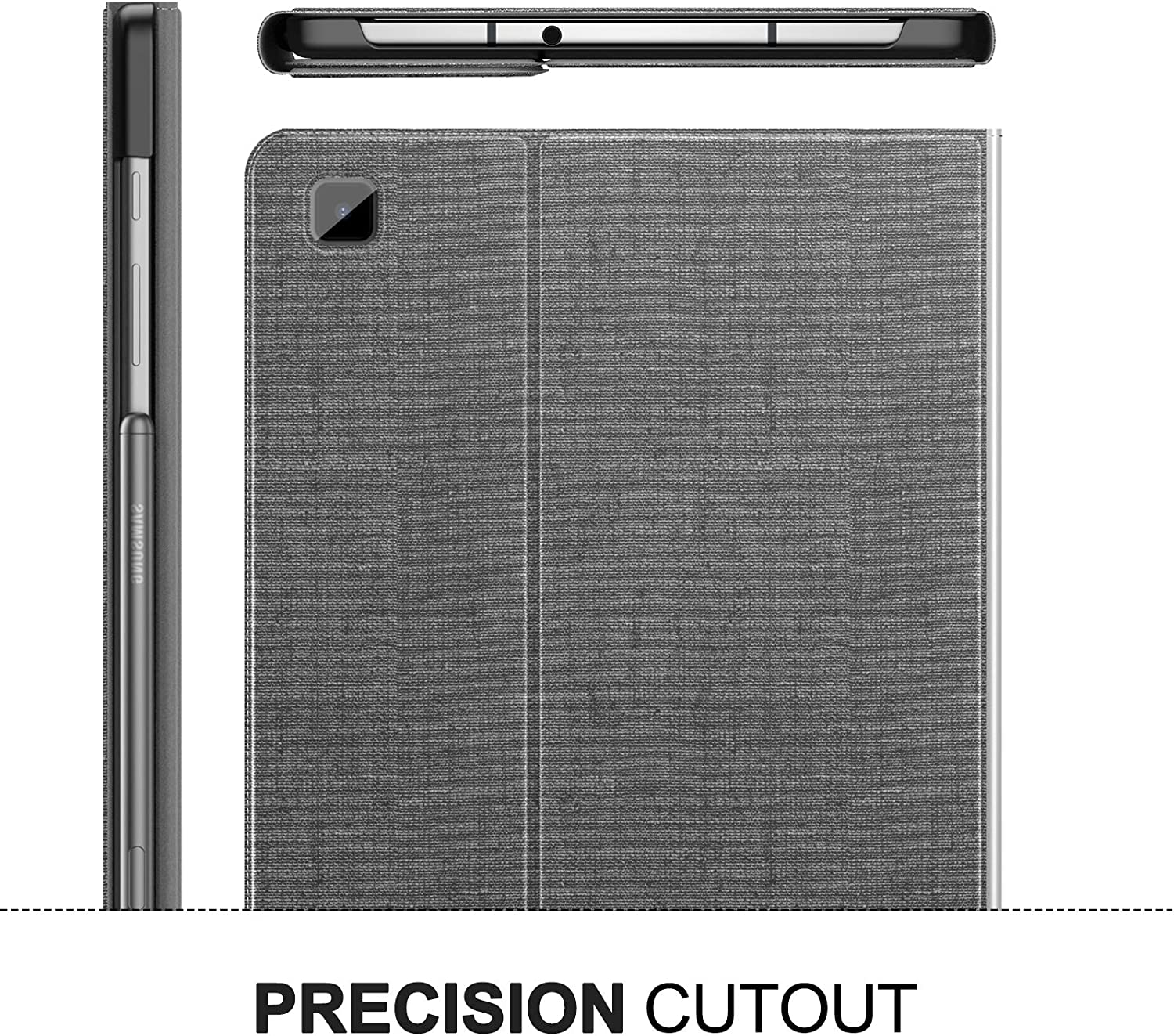 Multiple Angle Stand Case Fit Samsung Galaxy Tab S6 Lite 10.4 Inch Model SM-P610//P615 2020 Release Tablet INFILAND Galaxy Tab S6 Lite Case Gray Auto Wake//Sleep