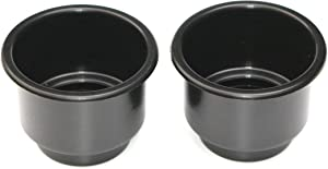 3 5/8 Black Jumbo Cup Boat RV Car Truck Poker Pool Table Sofa Inserts Large Size - 2 Pack (2)