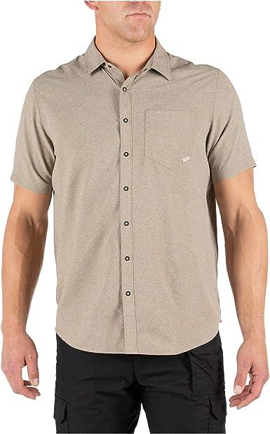 5.11 Tactical Evolution 71387 - Camisa de manga corta para hombre, con anillas de metal, estilo 71387 - Beige - Small: Amazon.es: Ropa y accesorios