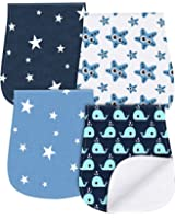 Burp Cloths Boys Girls - Waterproof Baby Burp Clothes Set 4 Pack