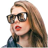 Polarized Sunglasses for Women, Mirrored Sunglasses-Fashion Oversized Eyewear with UV400 Protection