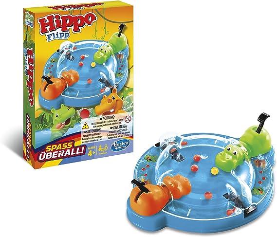 Hasbro Gaming Hungry Hippos Grab and Go Tragabolas, Juego de Viaje, versión Italiana (Hasbro Spain B1001): Amazon.es: Juguetes y juegos