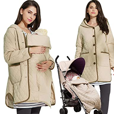 29af39631dcb Sweet Mommy Quilting Maternity and Babywearing Coat at Amazon ...