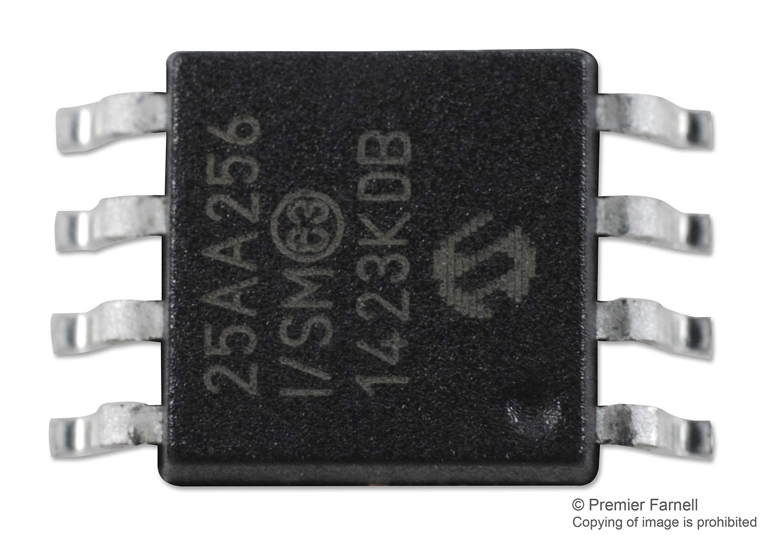 25AA256-I/SM - EEPROM, Serial SPI, 256 Kbit, 32K x 8bit, 10 MHz, SOIJ, 8 Pins (Pack of 20) (25AA256-I/SM)
