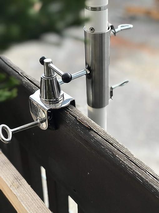 Soporte para sombrilla de balcón, 40 mm, acero inoxidable ...