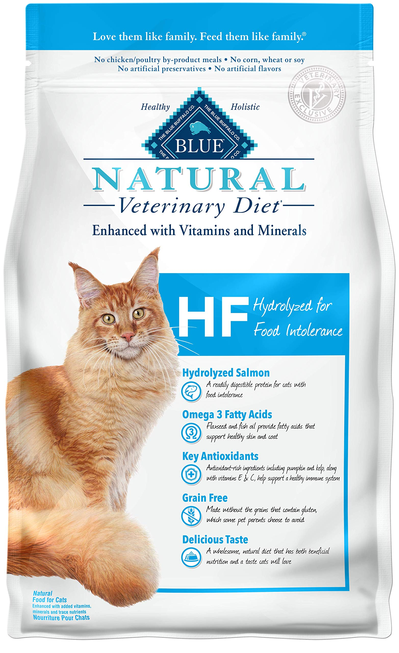 Blue Buffalo Natural Veterinary Diet Hydrolyzed for Food Intolerance for Cats 7lbs by Blue Buffalo Natural Veterinary Diet