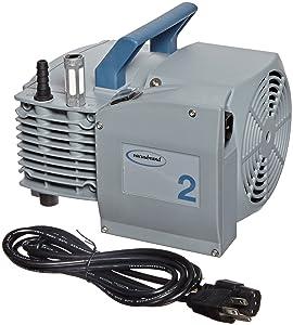 Vacuubrand ME2 NT Aluminum Diaphragm Vacuum Pump, Dual Voltage, 100-120V/200-230V