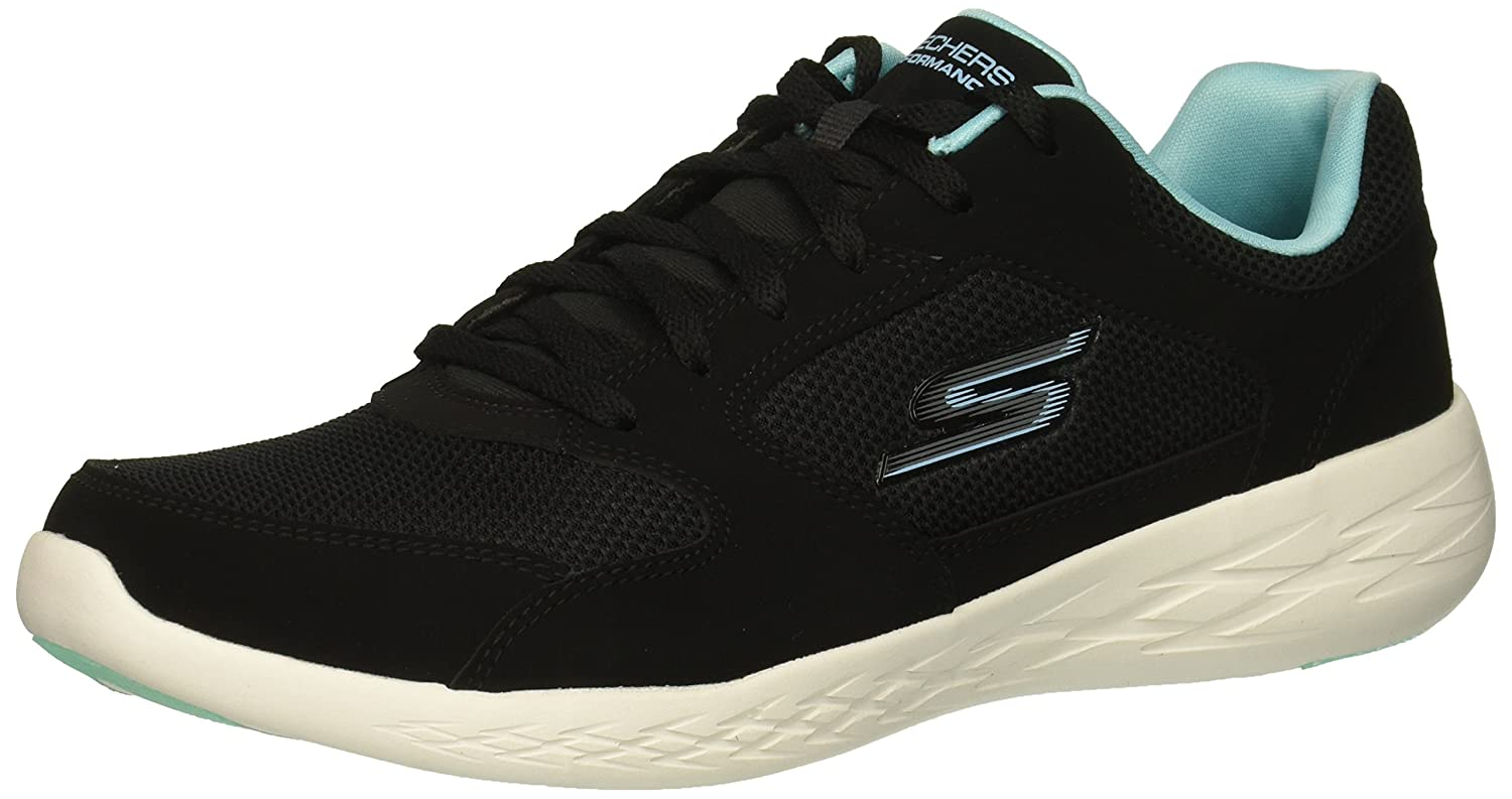 Skechers Women's Go Run 600 Reset Sneaker B07B1WP78J 12 B(M) US|Black/Turquoise