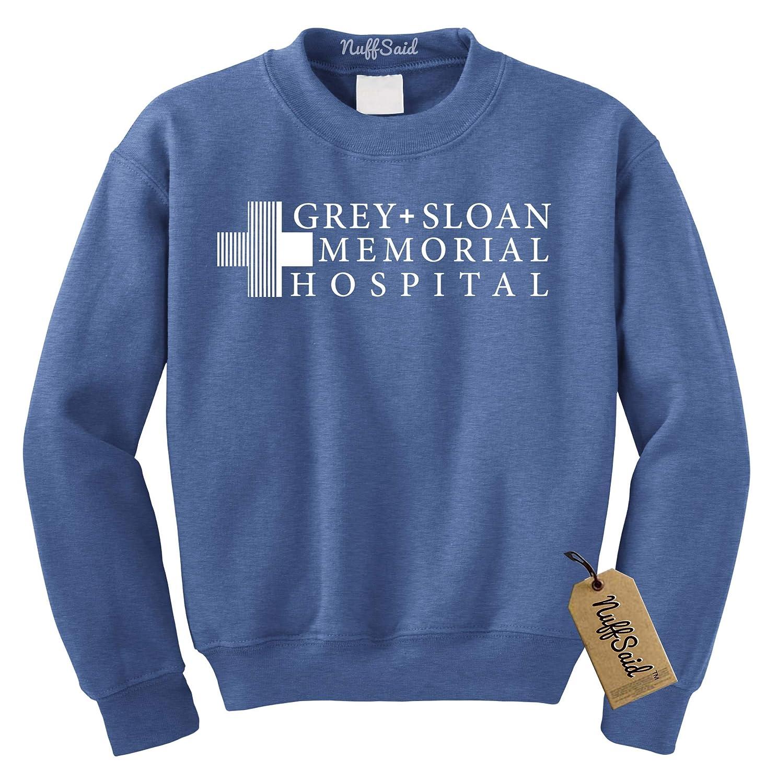 NuffSaid Grey Sloan Memorial Hospital Sweatshirt Sweater Crew Neck Pullover Premium Quality