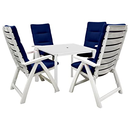 Kettler Rimini 5 Piece Resin Patio Furniture Set. Includes 4 Chairs, A  Kettalux