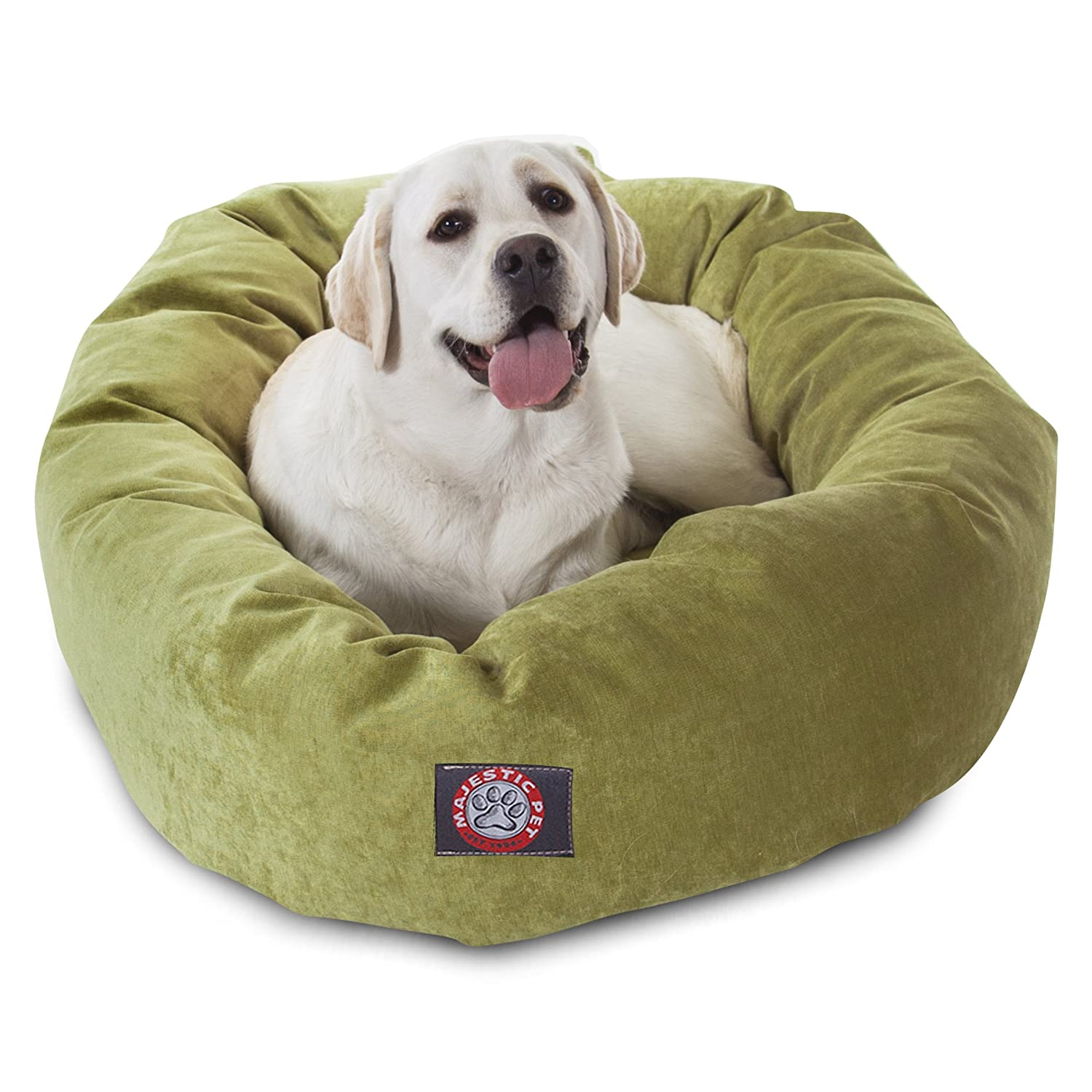 40 inch Apple Villa Collection Micro Velvet Bagel Dog Bed by Majestic Pet Products