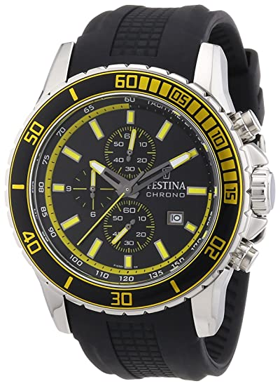 Festina F16561/4 - Reloj para Hombres, Correa de Goma Color Negro: Festina: Amazon.es: Relojes