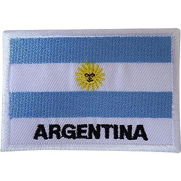 Bandera de la Argentina para planchar parche coser en T bolsa de camiseta Sudamérica bordado Badge: Amazon.es: Hogar
