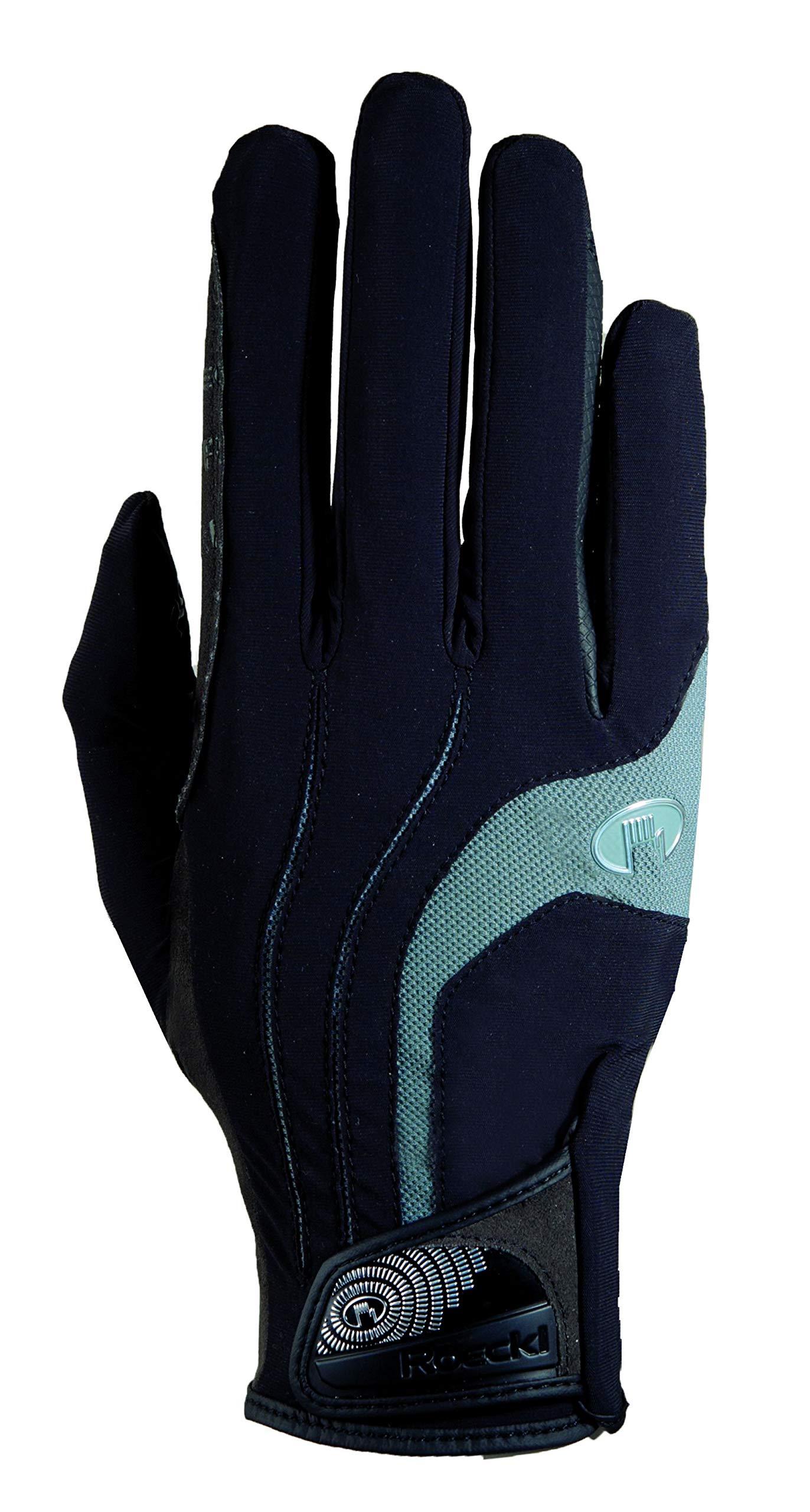 Roeckl Malia Riding Gloves Black/Grey 6.5