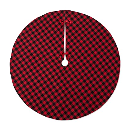 dii camz10924 plaid tartan tree skirt festive christmas dcor and holiday parties 48 round