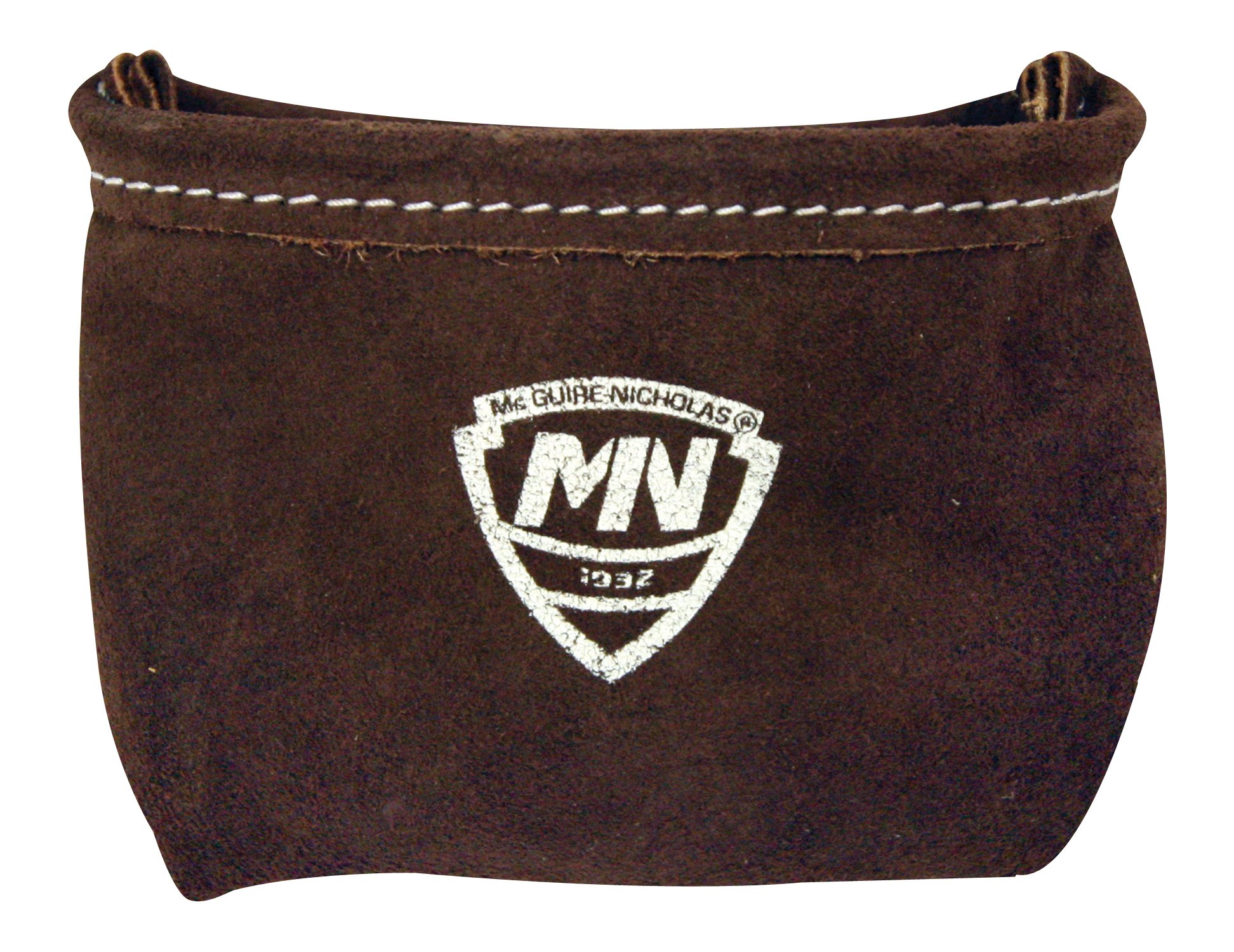 McGuire Nicholas 039S Single Pocket Pouch with Belt Clip in Tan Suede Leather