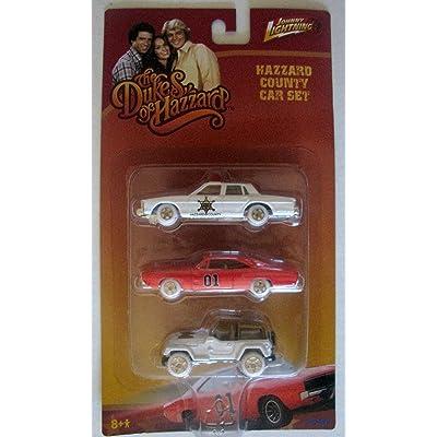 Johnny Lightning Dukes of Hazzard 3 Car Set White Tires Very Rare Vintage: Toys & Games [5Bkhe0804243]