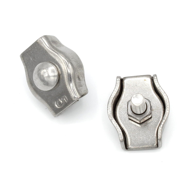 Simplex Drahtseilklemme 2mm Edelstahl [10 Stü ck] V4A AISI 316 Inox | HEAVYTOOL Trends of Trade